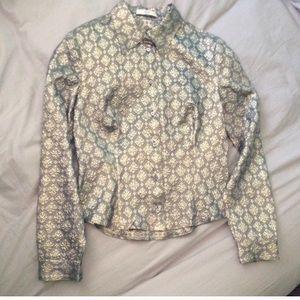 Vintage Prada button down shirt silk